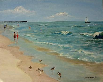 Ocean at the Outer Banks by Leda Rabenold