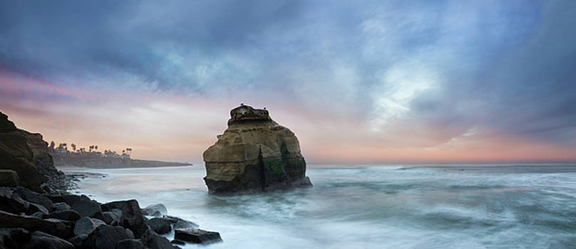 Ocean Beach Bird Rock by William Dunigan