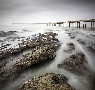 Ocean Beach Pier High Tide by William Dunigan