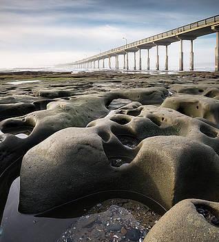 Ocean Beach Pier Rocks by William Dunigan