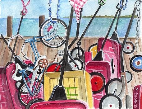 Ocean Beach Wagons by Sheryl Heatherly Hawkins