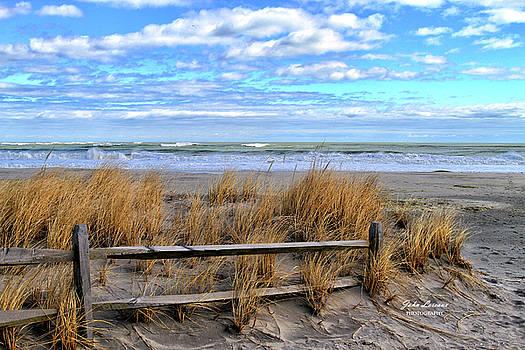 Ocean City Beach Fence by John Loreaux