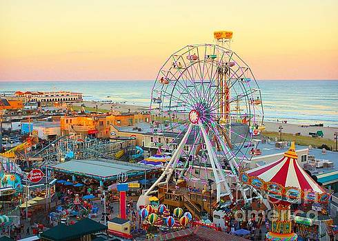 Ocean City New Jersey Boardwalk and Music Pier by Beth Ferris Sale