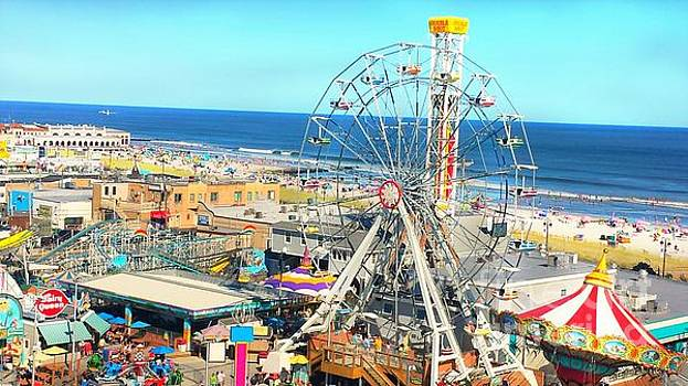 Ocean City New Jersey Wonder Wheel Boardwalk by Beth Ferris Sale