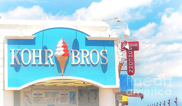Ocean City NJ Kohr Bros Johnson Popcorn by Beth Ferris Sale