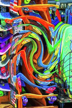 Bill Swartwout Fine Art Photography - Ocean City Sidewalk Surfboard Abstraction
