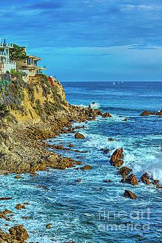 Ocean Cliffs Rocky Beach Seascape by David Zanzinger