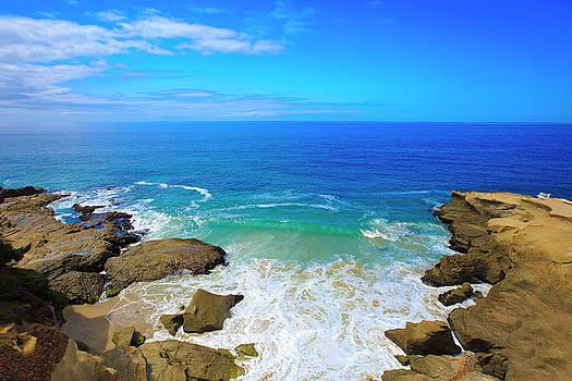 Ocean Crashing on Rocks by Kay Kochenderfer