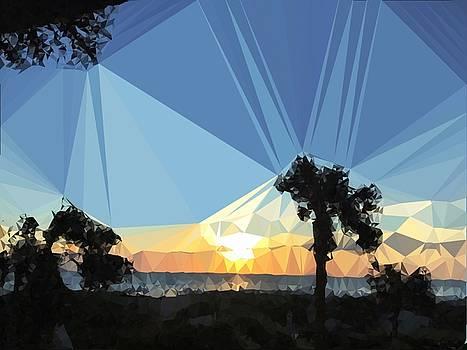 Ocean Crystal Glorious Sunrise by Patricia Taylor