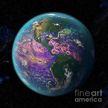 Ocean currents off the Americas by Science Photo Library