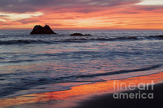Ocean Sky Awash in Color by Sharon Foelz