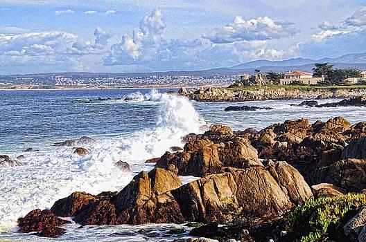 Ocean Spray in Monterey by Lorrie Morrison