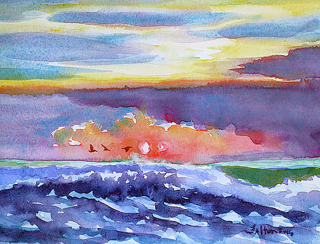 Ocean sunrise 3 by Julianne Felton