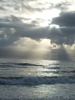 Cindy Treger - Outer Banks White Ocean Sunrise