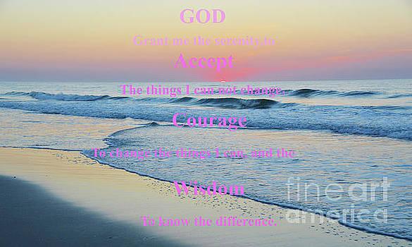 Robyn King - Ocean Sunrise Serenity Prayer