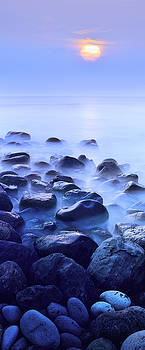 Ocean sunset panorama vertikal by Eduard Kraft