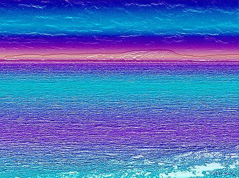 Ocean Waters at Sunrise by Celtic Artist Angela Dawn MacKay