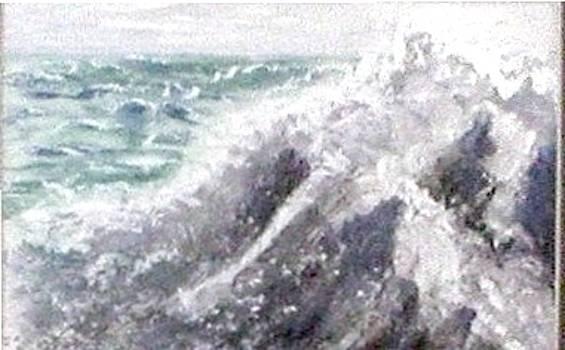 Ocean Waves by Rhonda Myers