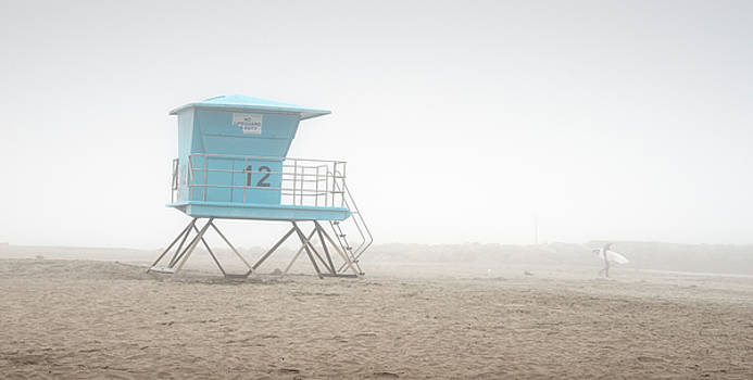 Oceanside and Surfer in the Fog by William Dunigan