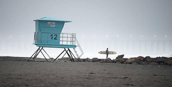 Oceanside Fog and Surfer by William Dunigan