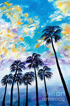 Oceanside Palm Trees by Art by Danielle