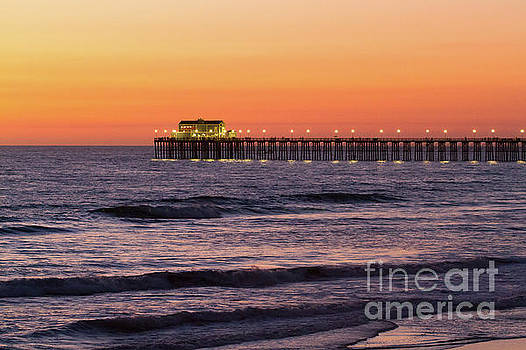 Oceanside Pier at Sunset by Denise Lilly