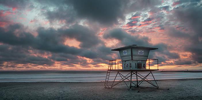 Oceanside Sunset Panorama by William Dunigan