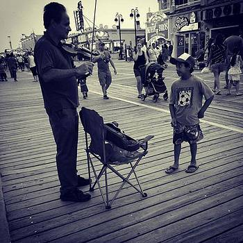 #ocnj Violinist On The Boardwalk by Jeff Jones
