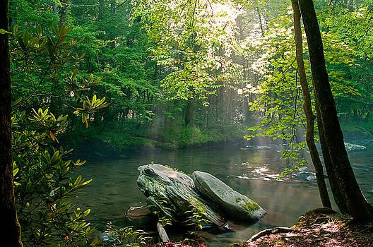 Oconaluftee river. by Itai Minovitz