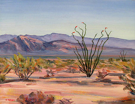 Ocotillo in Morning Sun by Robert Gerdes