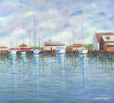 Ocracoke Harbor by Stan Sweeney