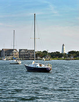 Ocracoke Island - Silver Lake and Lighthouse by Brendan Reals