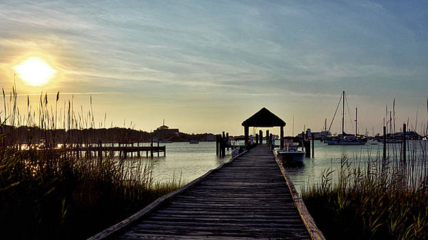 Ocracoke Sunset over Silver Lake by Brendan Reals