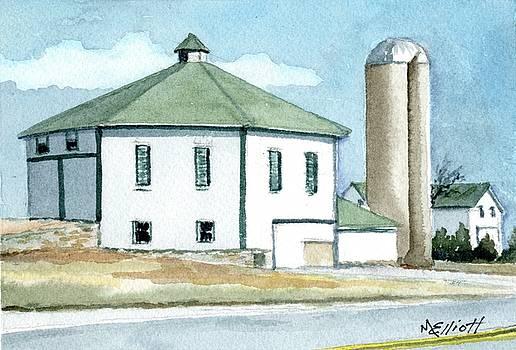 Octagonal Barn on Farrington by Marsha Elliott