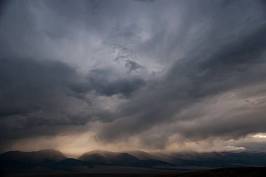 October Evening Clouds in  Colorado Mountains by Shanna Lewis