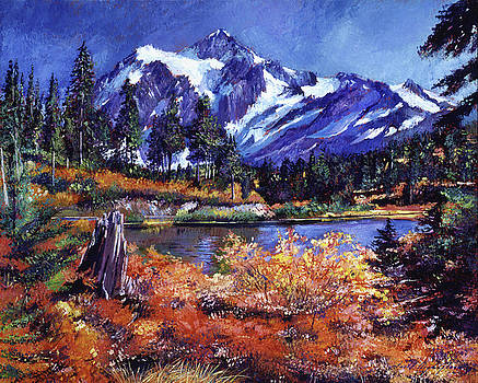 October Lake - Mount Shuksan by David Lloyd Glover