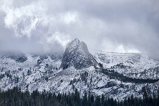 October Snowfall - Crystal Crag - Lake George - Mammoth - California by Bruce Friedman