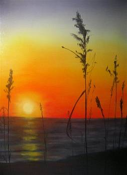 October Sunset by Dixie Hester