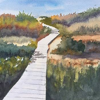 October Walk to Beach by Peggy Poppe