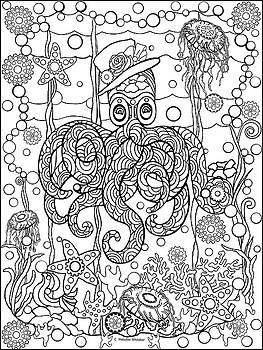 Octopus Zen by Melodye Whitaker
