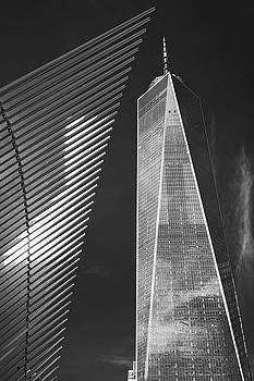 Oculus Wing and the Freedom Tower by Jerry Fornarotto