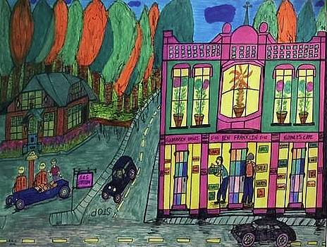 Oddfellows Building. Historical Menominee Art. by Jonathon Hansen