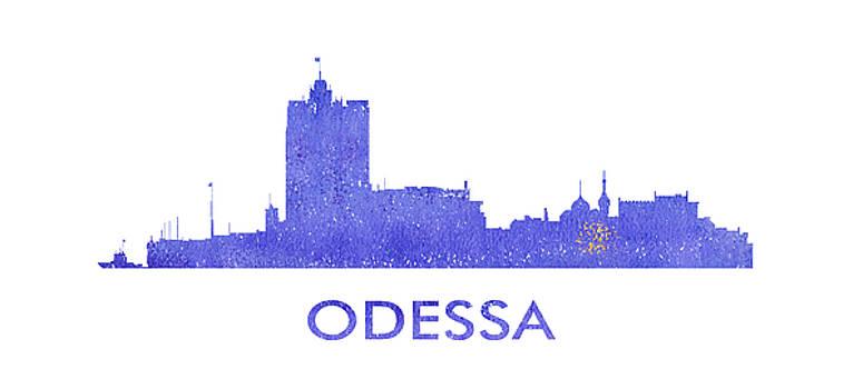 Vyacheslav Isaev - Odessa  city purple skyline