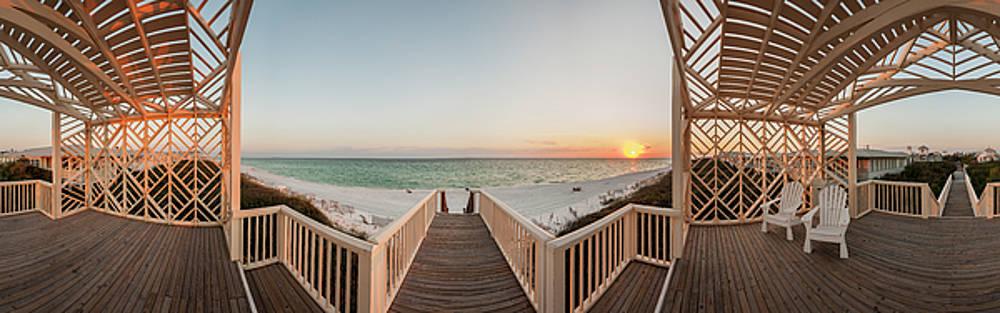 Odessa Pavilion Seaside Sunset by Kurt Lischka