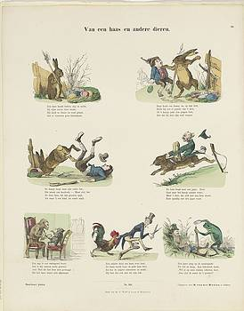 Of a hare and other animals in colour easter by R Muirhead Art