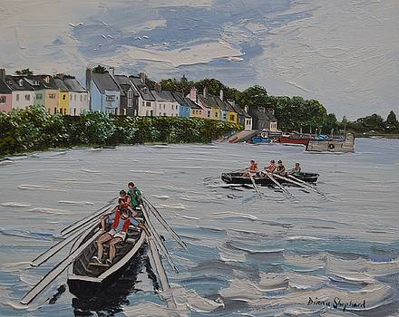Off currach racing Roundstone by Diana Shephard