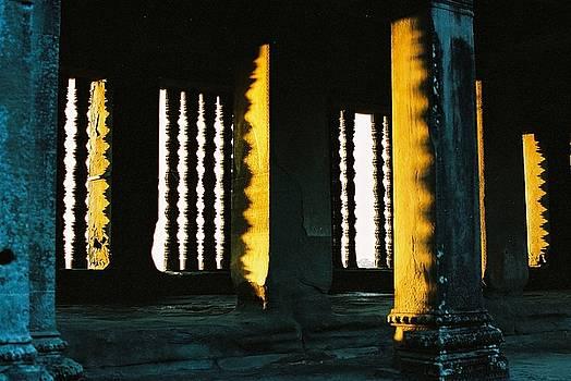 OFFICE ART window frame at angkor by Darren Kearney