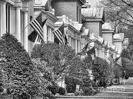 Officer's Row bw by Jerry Fornarotto