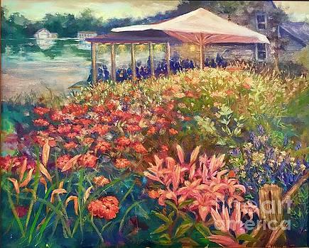 Ogunquit Gardens at Waterside Restaurant by Gail Allen
