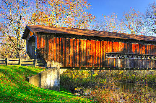 Ohio Country Roads - Benetka Road Covered Bridge Over the Ashtabula River - Ashtabula County by Michael Mazaika